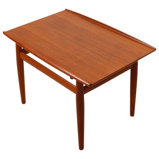 Grete Jalk Teak End Table with Raised Lip Edge