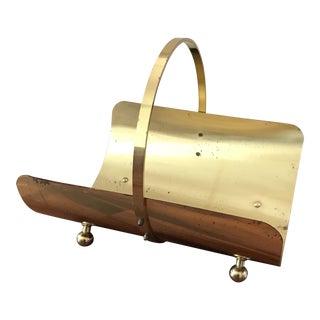 Mid Century Brass Italian Firewood Holder