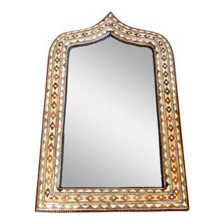Moroccan Bone Inlaid Arch Mirror