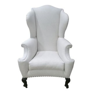 White English Wingback Chair
