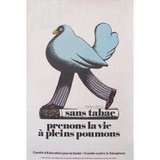 1977 Original Pushpin Studio Milton Glaser Anti-Tobacco Poster