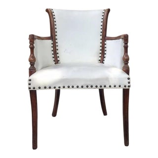 Vintage White Leather Chair