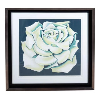 """""""White Rose"""" Limited Edition Colored Lithograph by Lowell Nesbitt"""