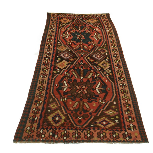 Rugsindallas Vintage Persian Design Wool Area Rug: RugsinDallas Antique Hand Knotted Wool Persian Kilim Rug