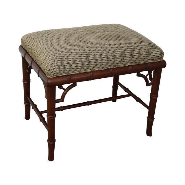 Councill Craftsman Faux Bamboo Ottoman - Image 1 of 10