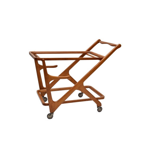Cesare Lacca Wooden Bar Cart for Cassina, Italy - Image 4 of 8