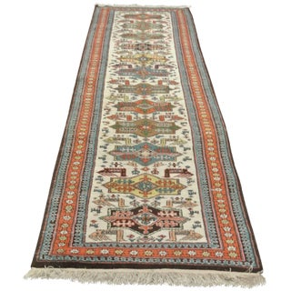 "Vintage Wool Turkish Runner - 2'11"" x 13'"
