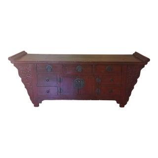 Vintage Cherry Wood Sofa Table
