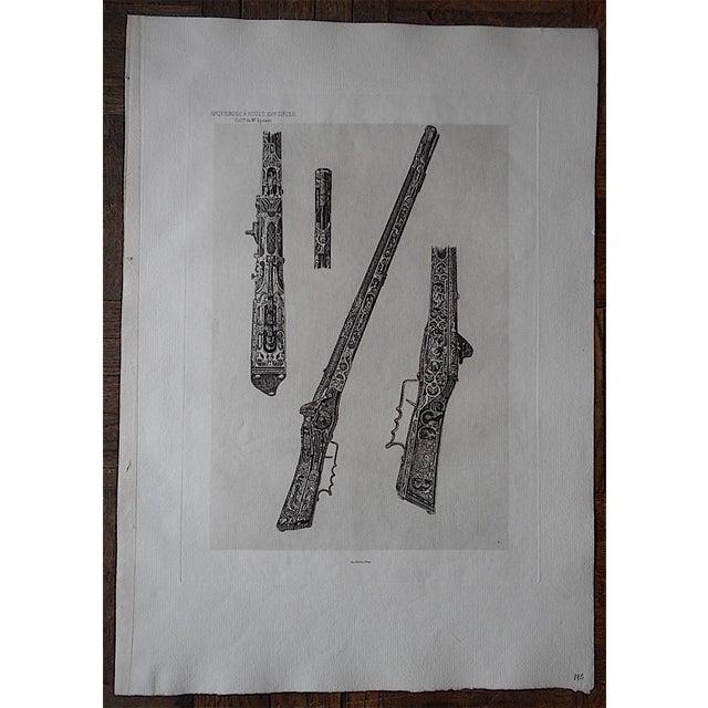 Antique Arquebus Etching - Image 3 of 3
