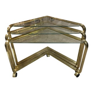 Design Institute of America Brass Nesting Tables- Set of 3