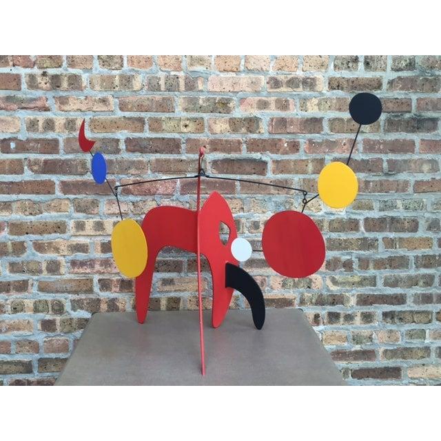 Vintage Calder Style Stabile Mobile Sculpture - Image 11 of 11