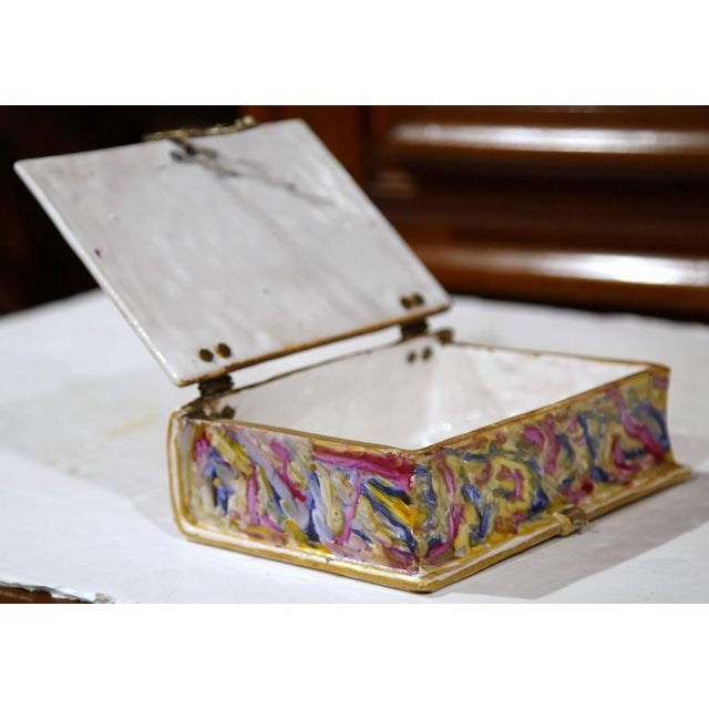 French Book Shaped Porcelain Jewelry Box - Image 9 of 9