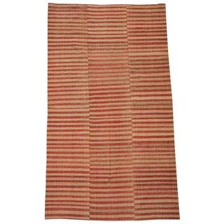 Vintage Turkish Flatweave Rug - 5′6″ × 9′7″