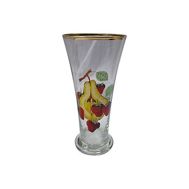 Image of 1950s Fruit Print Glasses - Set of 6