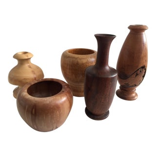 Collection of Wood Vases - 5