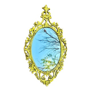 Antique Brass Mirror Custom-Finished Yellow