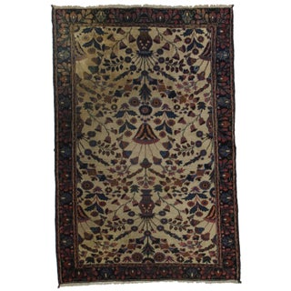RugsinDallas Hand-Knotted Persian Mashad Rug - 4′2″ × 6′4″