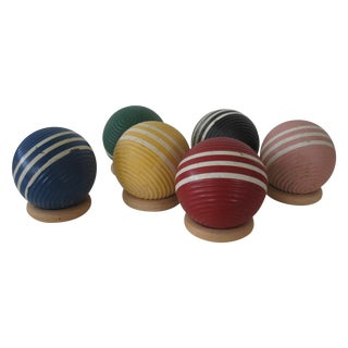 Vintage Croquet Balls - Set of 6