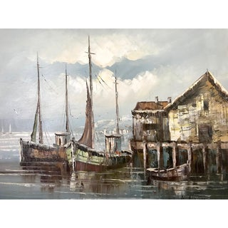 Fishing Boats at the Winter Dockside