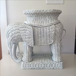 Image of Wicker Elephant Table with Removable Tray