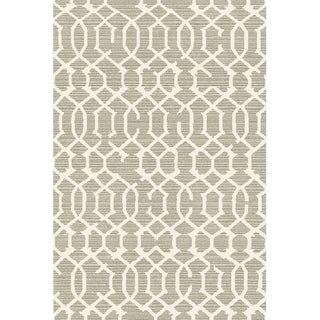Lattice Gray Rug -- 5'3'' x 7'7''