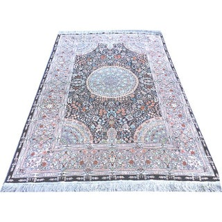 Persian Qum Design Area Rug - 4' x 6'