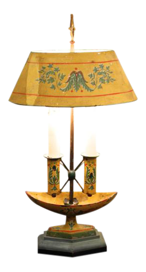 yellow painted tle lamp