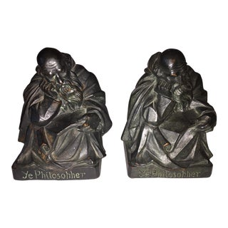 1915 S. Morani Armor Bronze Bookends - a Pair