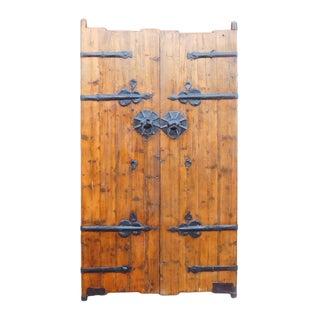 Chinese Vintage Iron Hardware Door Gate Wall Panel