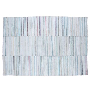 "Vintage Striped Rag Rug - 6'7"" x 9'6"""