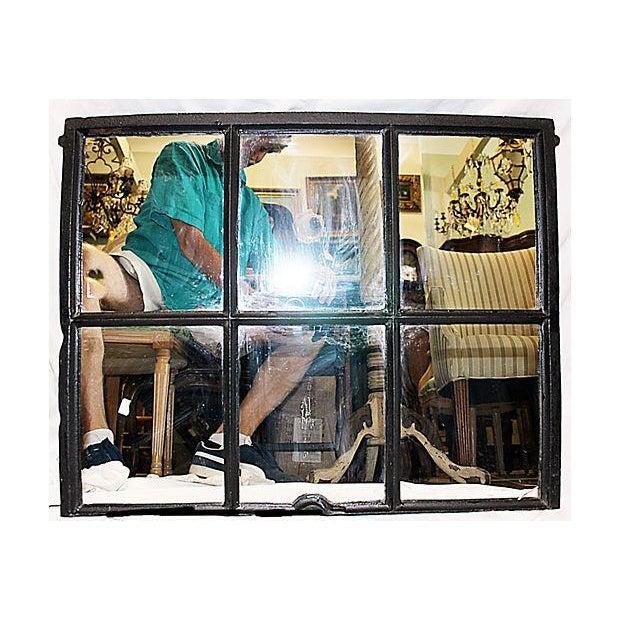 Iron Framed Mullion Mirror - Image 2 of 5