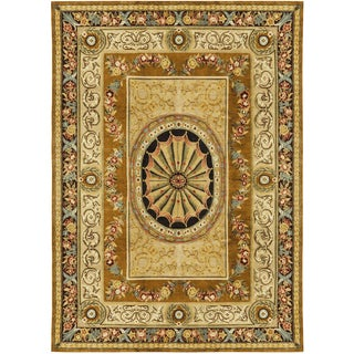 """Traditional Hand-Woven Rug Savonnerie - 8'9"""" X 12'"""