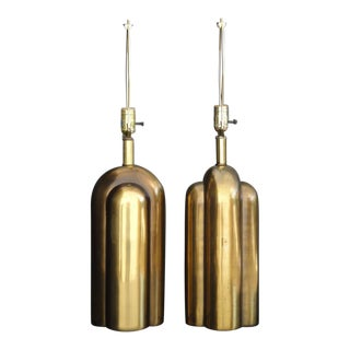 Art Deco Style Machine Age Antique Bronzed Lamps by Westwood Industies