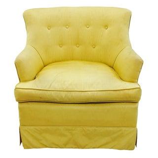 Vintage Mid-Century Yellow Barrel Back Arm Chair