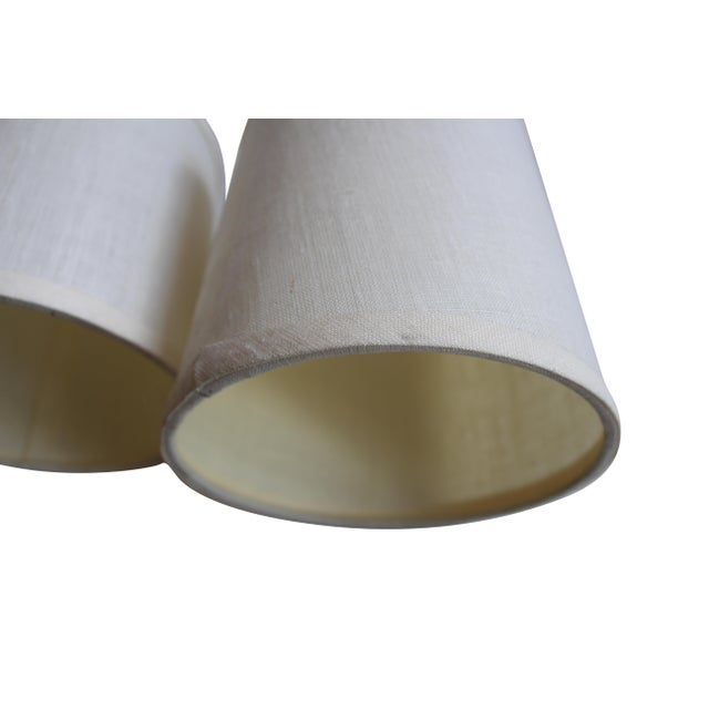 Clip-on Beige Linen Sconce Shades - A Pair - Image 5 of 5