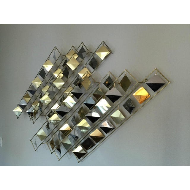 Curtis Jere Kinetic Brass Wall Sculpture - Image 5 of 9