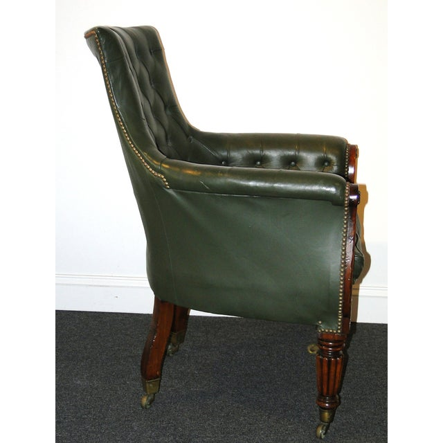 Regency Leather & Mahogany Library Chair C.1825 - Image 6 of 7