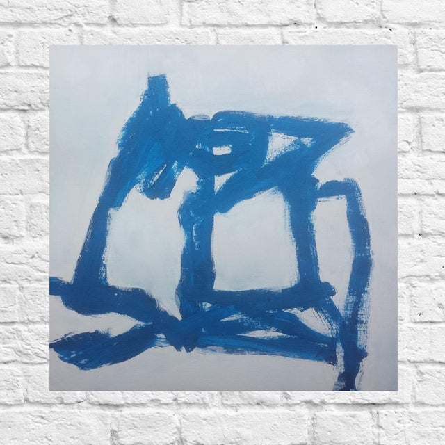 """Blue Abstract #1"" Original Painting - Image 2 of 2"