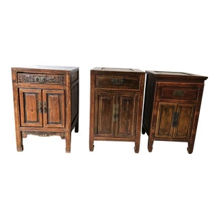 Vintage Chinese Wooden Dressers - Set of 3