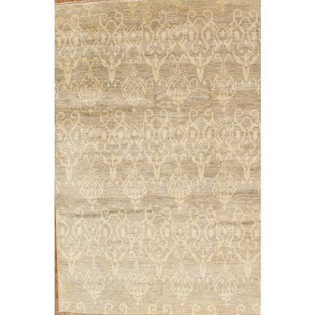 Pasargad Ikat Transitional Wool Area Rug- 6'x9' - Image 2 of 2