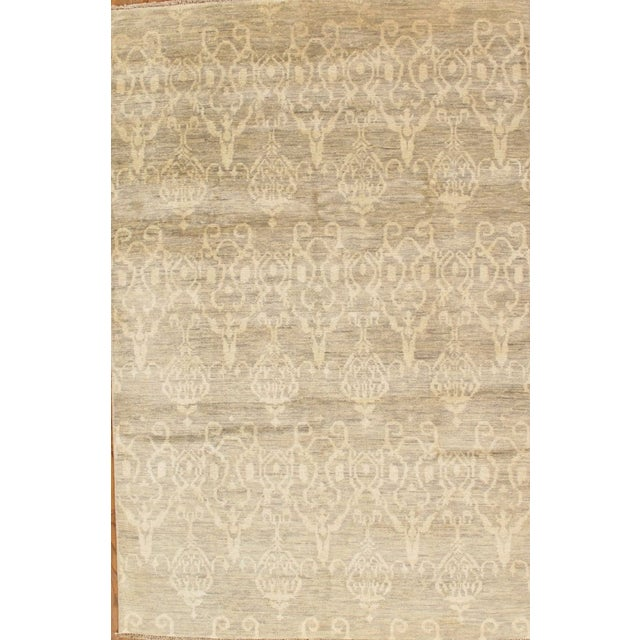 Image of Pasargad Ikat Transitional Wool Area Rug- 6'x9'