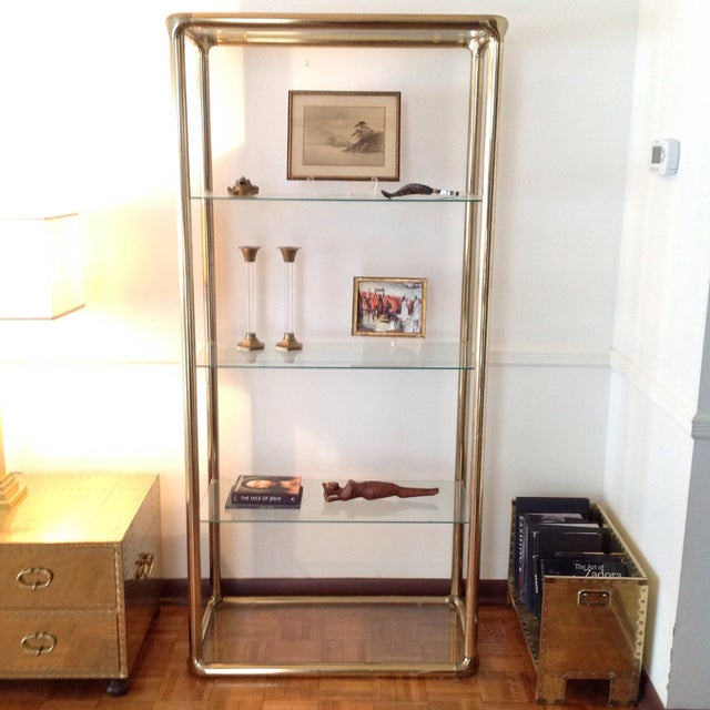 Brass Etagere in the Manner of John Widdicomb - Image 8 of 9