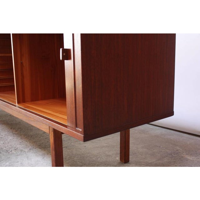 Image of Danish Teak Sideboard with Tambour Doors by Peter Løvig Nielsen