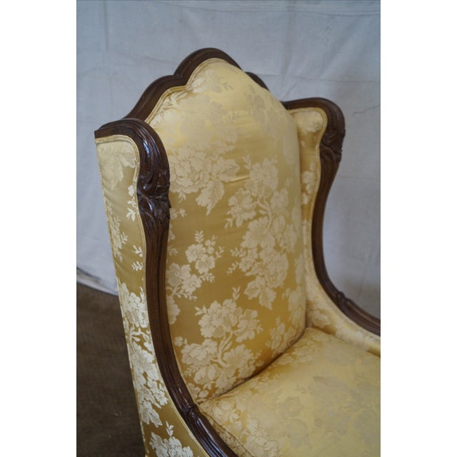 Image of Louis XV Carved Walnut Wing Chair