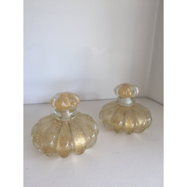 Venetian Murano Glass Perfume Bottles - A Pair - Image 2 of 4