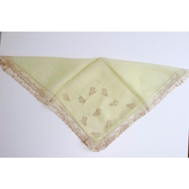 Image of 1920's Art Deco Green Silk Crepe Flapper Handkerchief