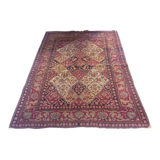 "Antique Lavar Kerman Persian Carpet - 4'6"" X 6'8"""