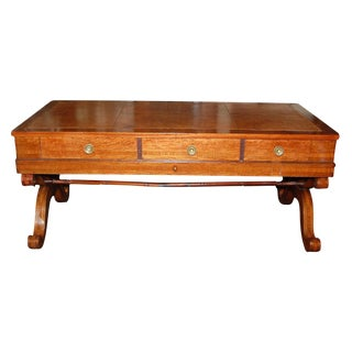 French Empire Walnut Desk