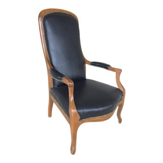Faux Leather High Back Arm Chair