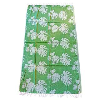 'Rio' Towalla Avocado Green Cotton Throw/Towel